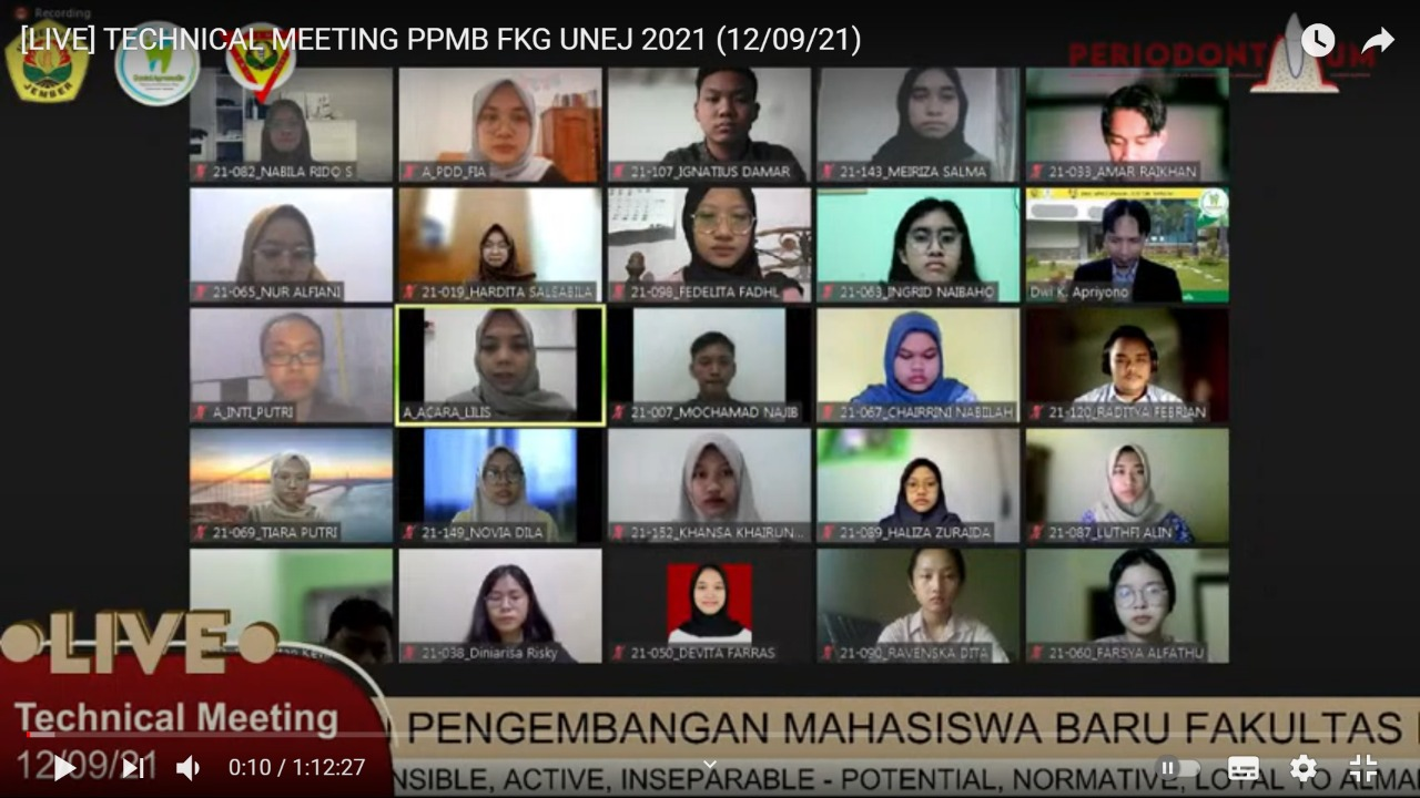 FKG Gelar PPMB bagi Maba 2021